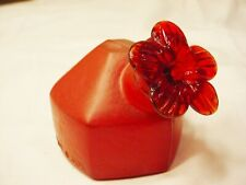 Vtg Hand blown Glass Par A Sol Hummingbird Feeder Small Sunset Red Free Shipping