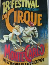 Affiche cirque /  18ème Festival international du cirque /  MONTE-CARLO 1994