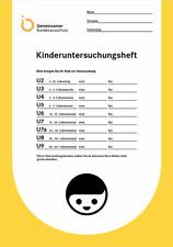 Untersuchungsheft U-Heft Gelbes U Heft Impfpaß Kinderuntersuchung NEU Blanko ori