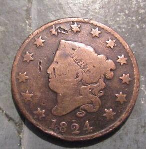 1824 Coronet Head  U.S. Large Cent