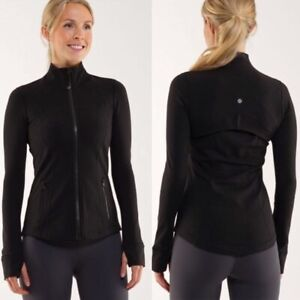 LULULEMON Define Jacket Size 12 Black Classic Thumbholes Cuffins EXCELLENT!!