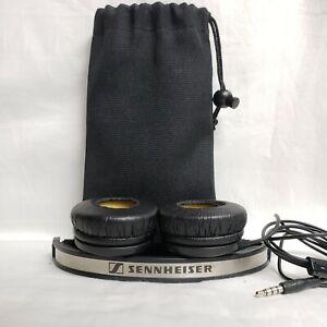 Sennheiser PX 200 II Black Mini Headphones and Bag with Volume Control CLEAN!