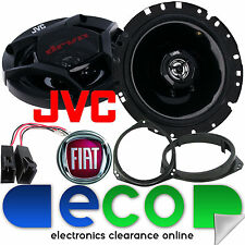 FIAT Grande Punto 2005-09 JVC 17cm 600 Watts Pair 2 Way Front Door Car Speakers