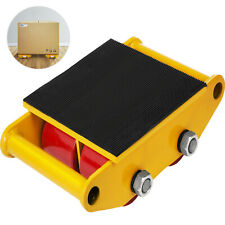 13200lbs 6T Machinery Mover with Rubber Pad USstock Dolly Skate Heavy Equipment
