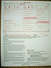 10-pack -- 2014 IRS Tax Form W-3 Transmittals ONLY (for sending W2s to SSA)