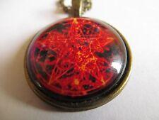 Red Pentagram Fire Aries Pendant 25mm