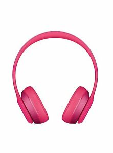 Beats Dr. Dre Solo2 Wired Over the Ear Headphones [B0518] Fuchsia GREY GLOSS NEW