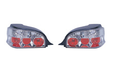Citroen Saxo 1996-2002 Chrome Clear Lens Lexus Jewel Rear Tail Lights 1 Pair