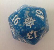 Blue Ixalan Spindown Dice - Island D20 MTG Life Counter 20 Sided