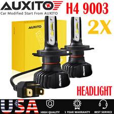 AUXITO FANLESS H4 9003 LED Headlight Hi Low Beam Bulb 18000LM HID WHITE B7 EOA