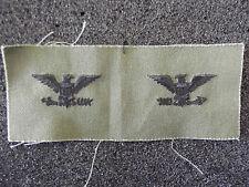 US Kragen Rangabzeichen Colonel Stoff Grün Woodland