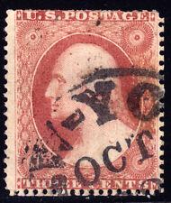 #26A - 3 Cents 1857, 22R10e, Recut right inner frame line, New-York OCT 23 CDS