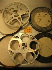 2 Antike Filmspulen für 16mm Film mit Dosen 1940.Jahre.D.83-Antique film reel