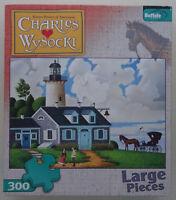 jigsaw puzzle 300 pc Lighthouse Keepers Daughter Wysocki Americana Buffalo Games