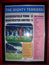 Huddersfield Town 2 Manchester United 1 - 2017 - framed print