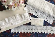 Lot Broderie Anglaise Lace Trim Length Vintage. NOS Unused