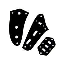 Control Plate Set For Jaguar Style Guitar ,Plastic PVC 3ply Black (Set of 3)