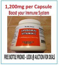 LIPOSOMAL VITAMIN C 1,200mg NON-GMO SOY FREE PURE 60 LIQUID CAPSULES Exp: 2019