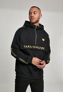 Wu-wear Jersey Men's Sweatshirt with Hood Logo Pull Over Hoody Black