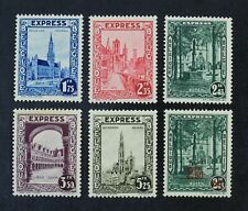 CKStamps: Belgium Stamps Collection Scott#E1-E6 Mint H OG