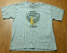 OHIO STATE HIGHWAY PATROL youth med T shirt wings logo tee Public Safety