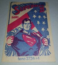 SUPERMAN II the movie - DC Comics CHILE 1980 UNOPENED stickers PACK