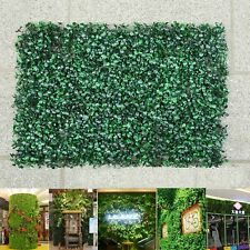 6xArtificial Plant Foliage Hedge Grass Mat Greenery Panel Decor Wall Fence