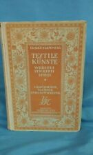 Textile Kunste: Weberei, Stickerei, Spitze, German language 190723