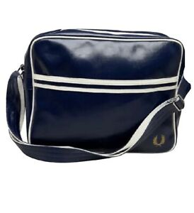 Fred Perry Navy Messenger Shoulder Bag Satchel