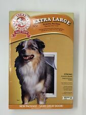 "Ideal Pet Products Plastic Pet Door Extra Large 10.5""x15"" White Dog Cat Pig"