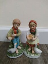 New ListingMan And Woman Porcelain Figurines With Ducks