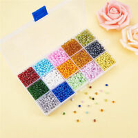 5850pcs/Box Tiny 6/0 Glass Seed Beads Loose Beads Beading Craft 15 Color Kit 4mm