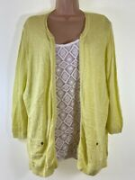 MARKS & SPENCER yellow & white 2 in 1 crochet trim blouse jumper top size 22 50