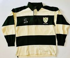 """Ireland """"Live for Rugby"""" Men's Long Sleeve Medium Heavy Embroidered Polo Shirt"""