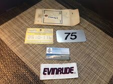 SMA1363 NEW Johnson Evinrude OMC VINTAGE 75HP decal sticker outboard motor