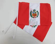 PERU / PERUVIAN CAR WINDOW FLAG - 2 PACK NEW