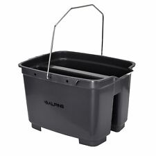 Alpine Industries Gray 2 Compartment Carry Janitorial Cleaning Bucket