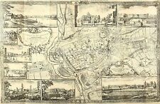 Roque's Map of Exeter 1744 , Reprint 12x8 Inch