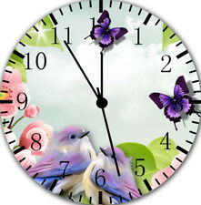 Flowers Birds Butterfly Frameless Borderless Wall Clock E16 Room Wall Decor