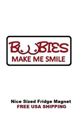411 - Funny I Love Boobies Refrigerator Fridge Magnet
