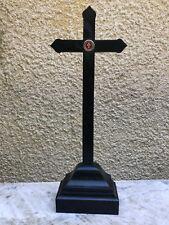Croix d'Autel d'Eglise 19 ème Siècle Avec Reliquaire de la Vrai Croix Reliquaire