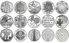 More details for fifty pence 50p english proof uncirculated coins choice of year