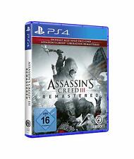 Assassins Creed 3 III - Remastered      PS4         !!!!! NEU+OVP !!!!!