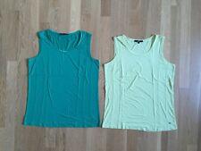 Bonita T-Shirt Set ohne Arm 2x Zitrone Gelb Grün L 40 Viskose Elasthan Wie Neu
