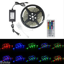 4PK Waterproof 5M LED SMD 3528 Rope Strip RGB with Remote and Power Supply