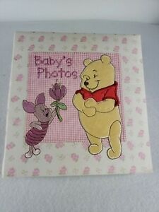Disney Baby Winnie the Pooh & Piglet 4x6 Baby girl Photo Album Holds 196 Photos