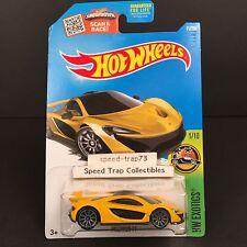 Hot Wheels McLaren P1 2015 #71/250 HW Exotics Grey 10s Yellow