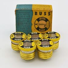 Vintage Buss W 5 Fuses Clear Window Copyright 1948 30 Amp USA In Original Box