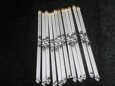 12 X FROSTED & CLEAR SOLID GLASS TUBES LAMP SPARE DROP LUSTRES HAND TWISTED ENDS