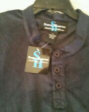 NWT Mens Steve Harvey 1/4 Button Sweatshirt  Blue Size XL